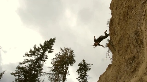 High-flying Parkour stunts in slow motion
