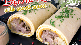 Low carb Big Mac roll with secret sauce - Video