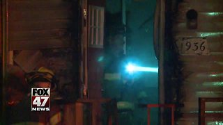 Lansing Firefighters respond to two overnight fires Sunday - Video