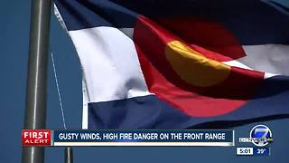 Fire danger high again Monday across Front Range, eastern Colorado - Video