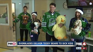 Everblades deliver teddy bears to sick kids
