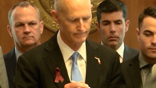 Governor Rick Scott talks about jobs, school security money - Video