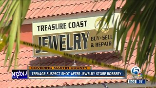 Jewelry store robbery ends with teen shot, Martin County Sheriff's Office says