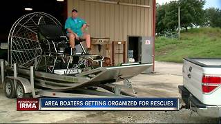 Area boaters begin getting organized for possible rescues from Hurricane Irma - Video