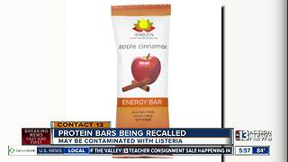 Protein bars being recalled