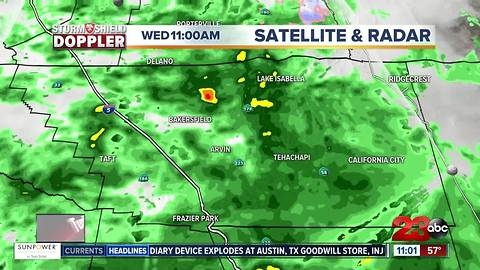 Weather Update for Kern County Storm