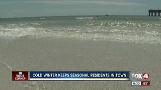 Prolonged winter has seasonal residents extending their stay in SWFL - Video