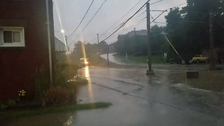 Flash Floods Prompt Evacuation of Homes in South Park, Pennsylvania