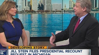 Attorney represening Jill Stein and her push for a vote recount in Michigan stops by WXYZ - Video