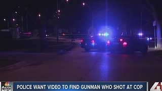 Police want to find gunman who shot at cop - Video