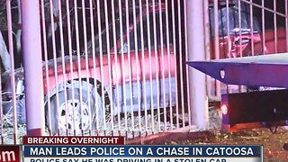 Man leads police chase in Catoosa - Video