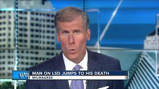 Man on LSD jumped off Milwaukee building to his death - Video