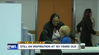 Akron Children's Hospital oldest volunteer - Video