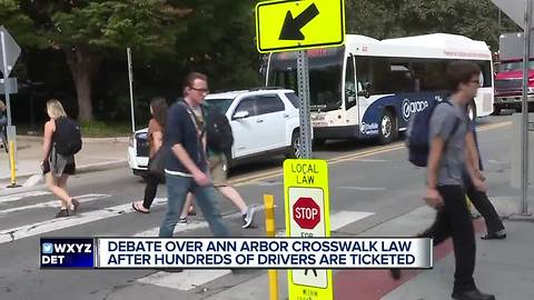 Debate over Ann Arbor crosswalk law after hundreds of drivers are ticketed