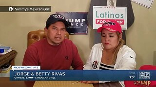 Arizona restaurant owners face backlash after attending Trump rally