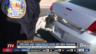 Officers and their police dogs get new training