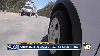 Gas tax repeal on November ballot - Video