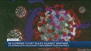 Michigan Supreme Court rules Whitmer didn't have authority to issue COVID-19 orders after April 30