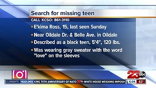 KCSO searching for missing teen