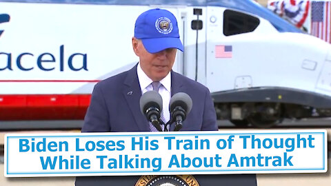 Biden Loses His Train of Thought While Talking About Amtrak