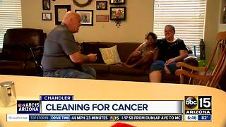 Cleaning company helps cancer patients - Video