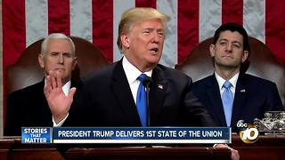 President delivers 1st State of the Union - Video