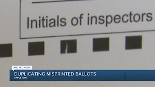 Outagamie County poll workers remaking misprinted absentee ballots