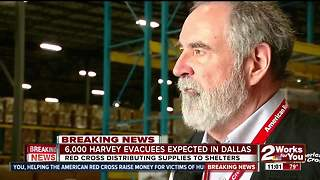 Red Cross distributing supplies to shelters in Dallas - Video