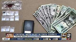 Crystal meth bust in Cecil County - Video