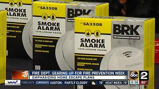 Baltimore City getting ready for Fire Prevention Week - Video
