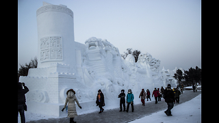 Epic Chinese Ice Festival - Video
