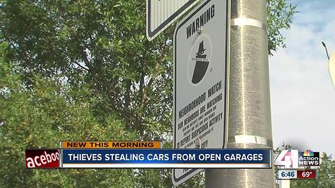 KC police following leads in string of thefts from open garage doors