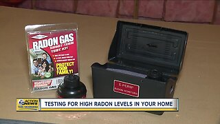 Testing for high radon levels in your home