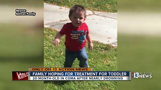Hyperbaric offers hope for family of Las Vegas toddler in near-drowning - Video
