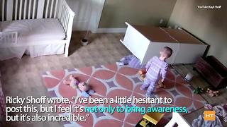 Toddler uses super strength to lift fallen dresser off twin brother | Hot Topics - Video