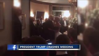 President Trump crashes wedding - Video