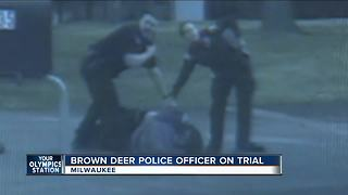 Surveillance video shows events in Brown Deer police shooting - Video