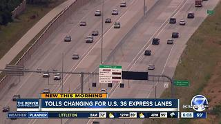 Heads up, commuters: Some changes may be coming to US 36 toll lanes - Video
