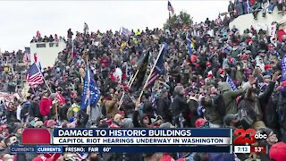Capitol Riot hearings underway in Washington, focusing on damage to historic buildings