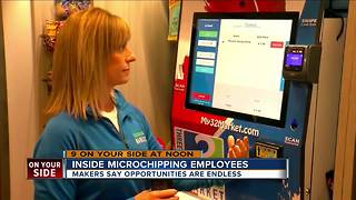 Inside microchipping employees - Video