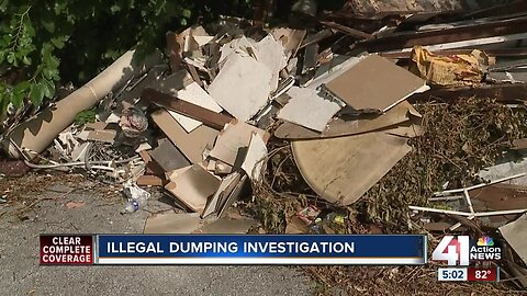 Fire cleanup on Troost Avenue may have led to illegal dumping, city says