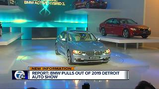 BMW becomes latest automaker to pull out of Detroit auto show - Video