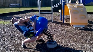 Epic Fail On The Playground With Little Sister - Video