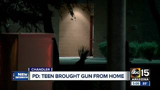 Teen brings gun, ammo to Valley school - Video
