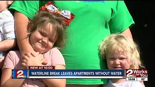Waterline break leaves apartments without water