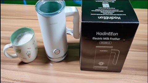 HadinEEon Milk Frother and Steamer Machine Review