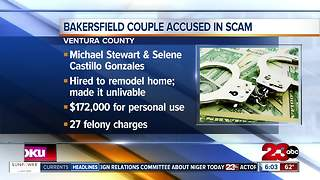 Bakersfield couple scams elderly woman out of over $150,000 - Video
