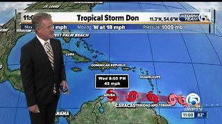 Tropical Storm Don to reach the Windward Islands Tuesday - Video