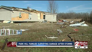 Park Hill families surveying damage after storms