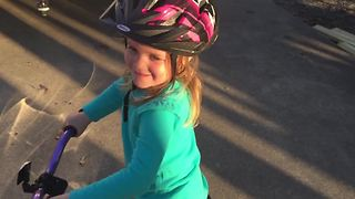 Adorable Little Girl's Bike Fail - Video